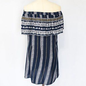 Elan Dresses - ELAN | Printed Off The Shoulder Dress | S